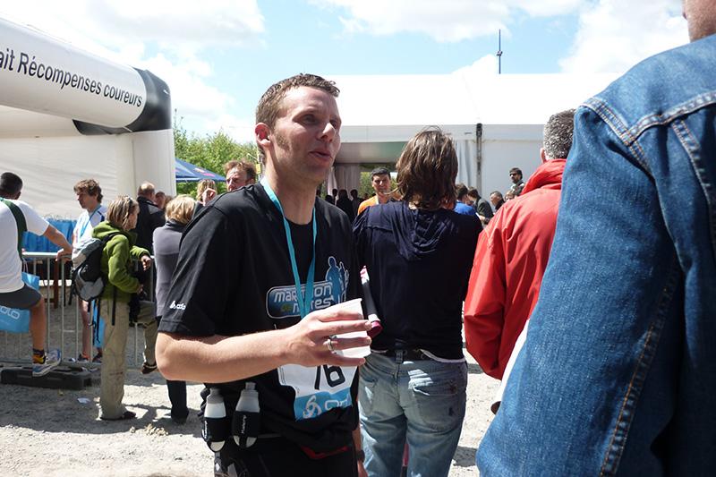 Jérôme à l'arrivée du marathon